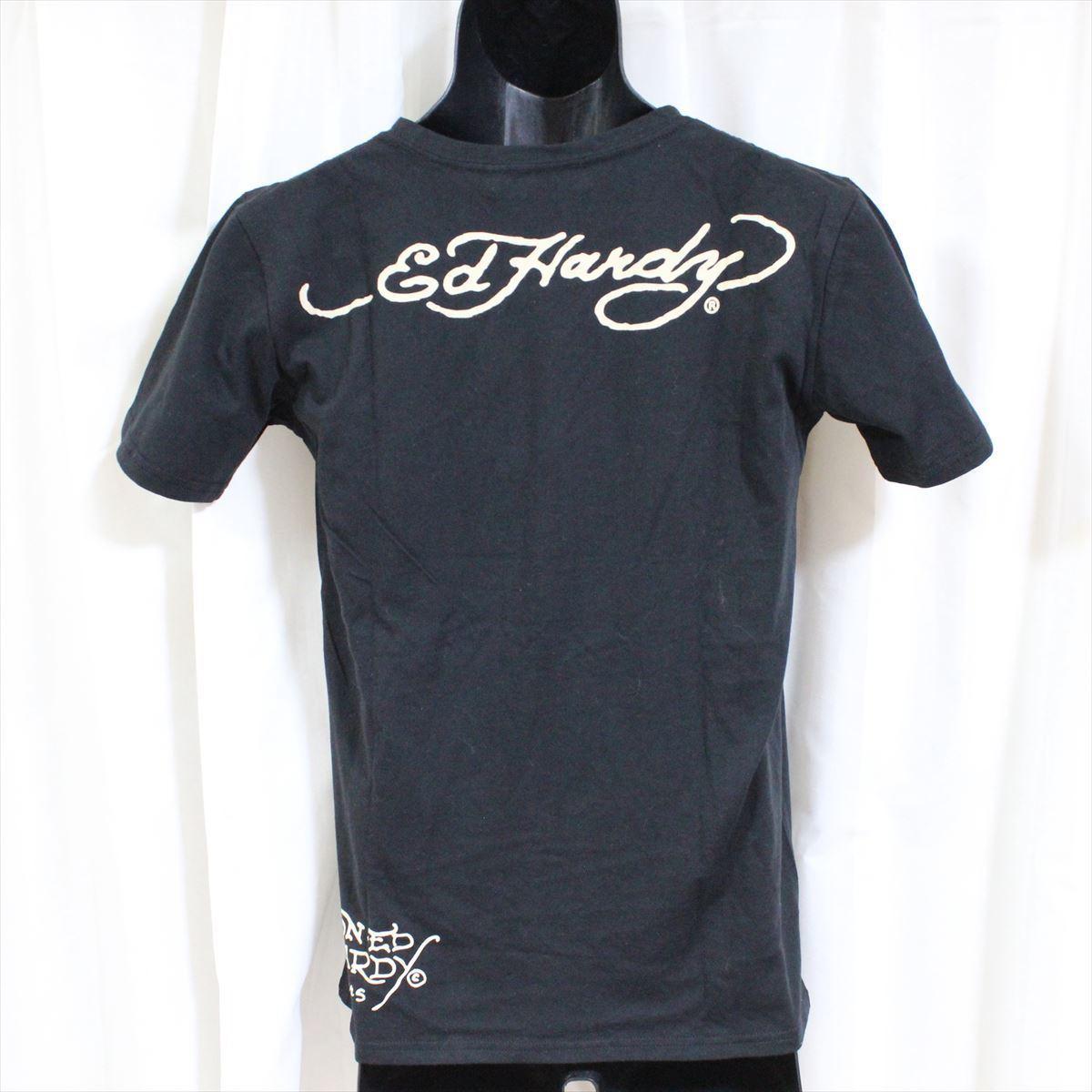 エドハーディー ED HARDY メンズ半袖Tシャツ Sサイズ ブラック NO11 新品_画像3