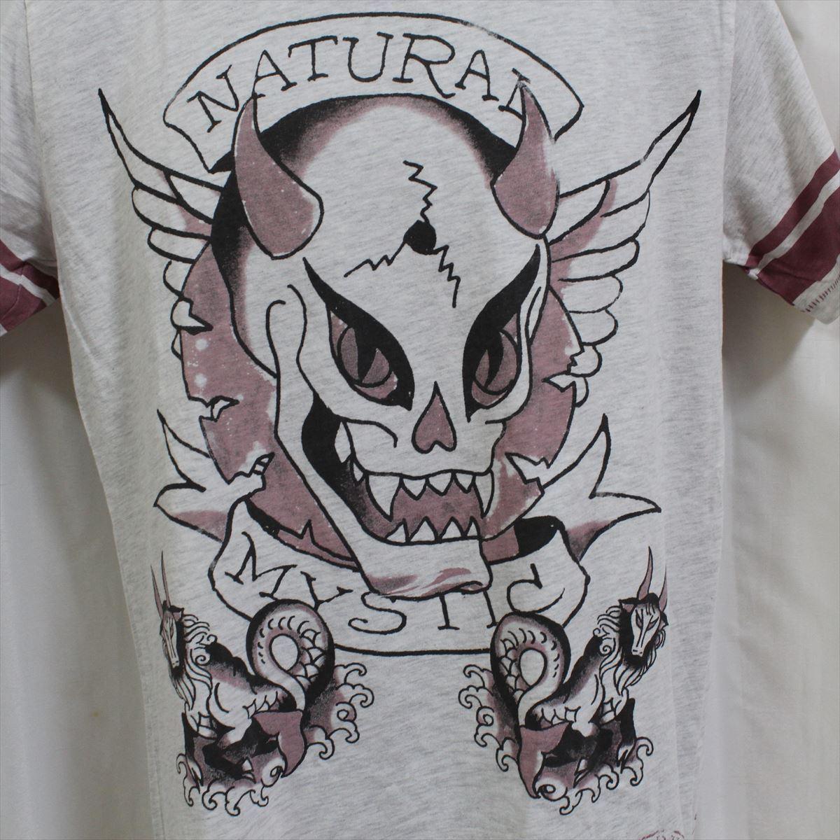 エドハーディー ED HARDY メンズ半袖Tシャツ ヘザーグレー Mサイズ NO15 新品_画像3