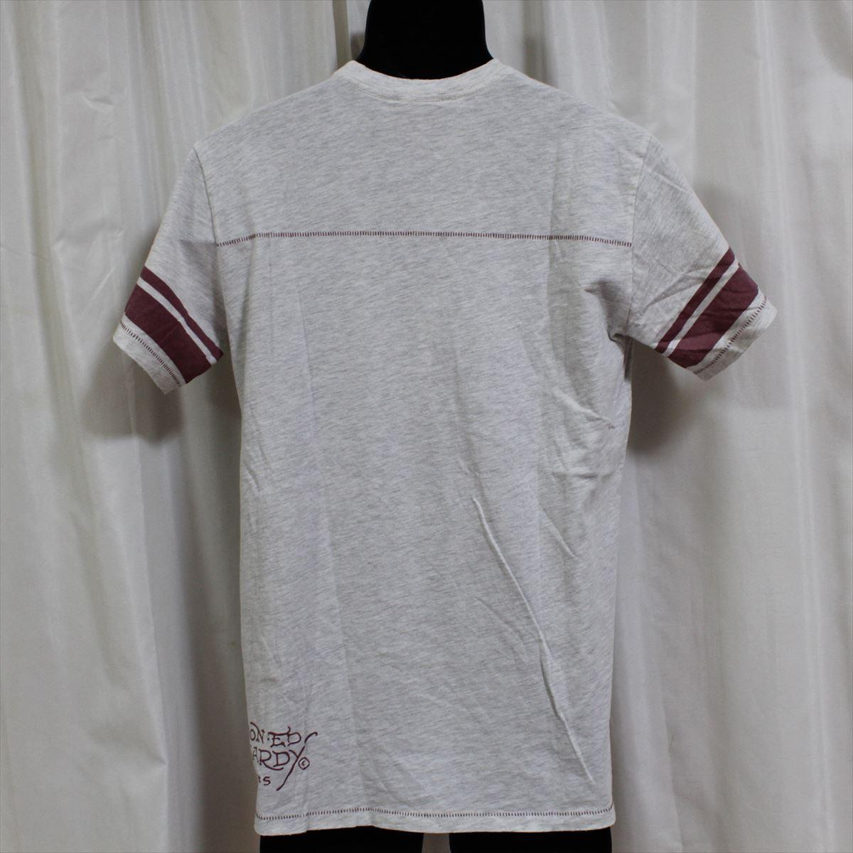 エドハーディー ED HARDY メンズ半袖Tシャツ ヘザーグレー Mサイズ NO15 新品_画像6