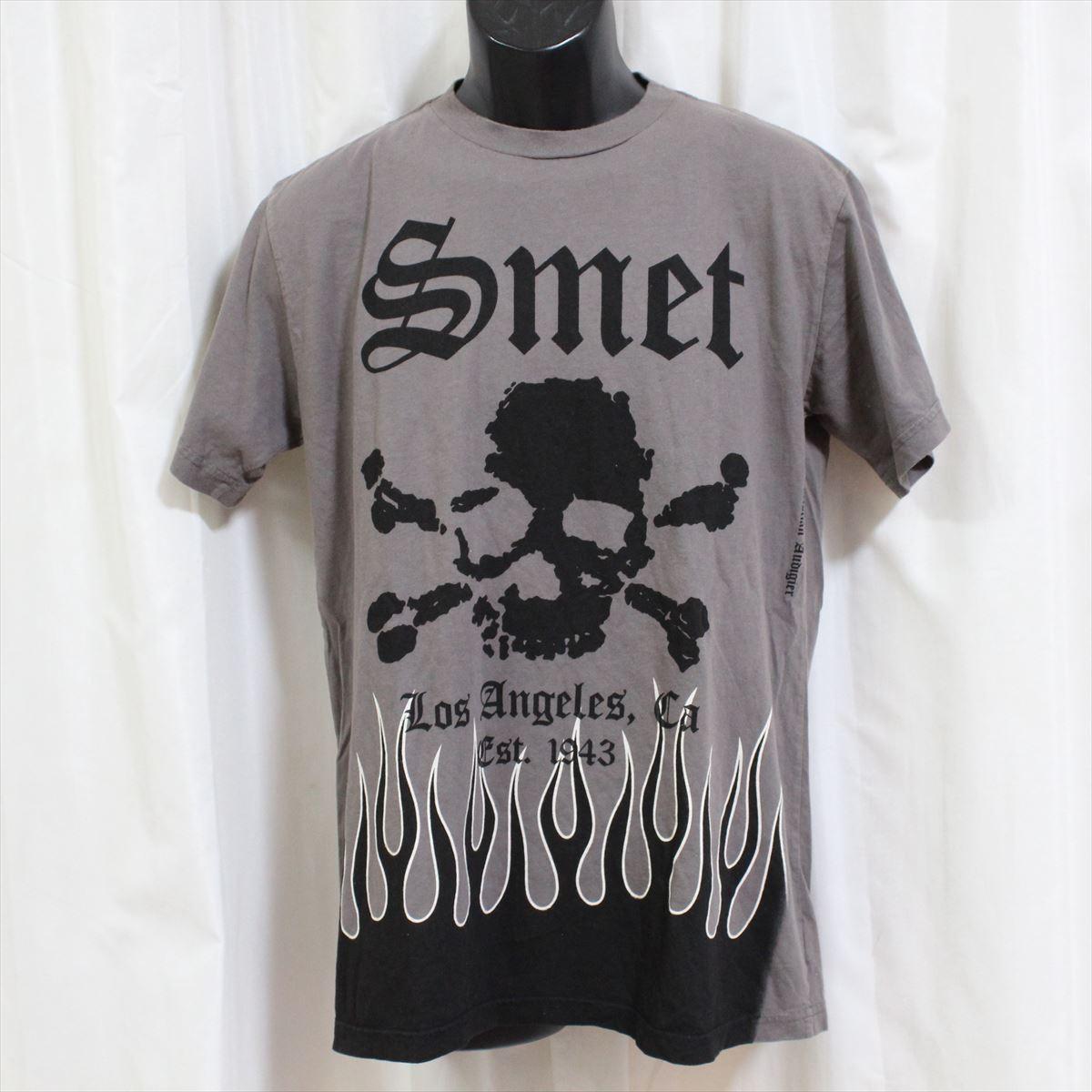 スメット SMET メンズ半袖Tシャツ グレー Lサイズ NO1 新品_画像1