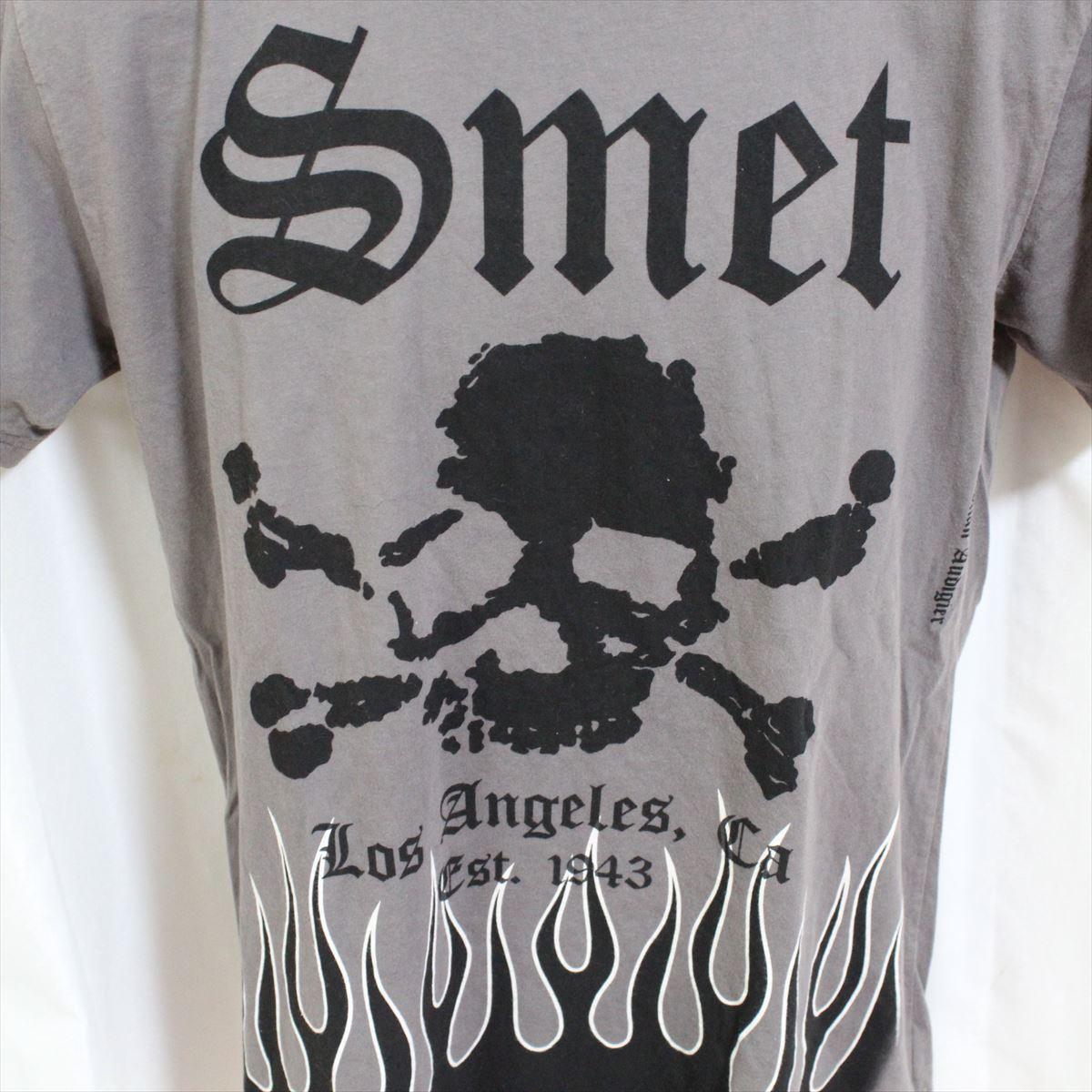 スメット SMET メンズ半袖Tシャツ グレー Lサイズ NO1 新品_画像2