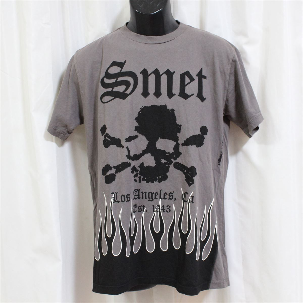スメット SMET メンズ半袖Tシャツ グレー Sサイズ NO1 新品_画像1