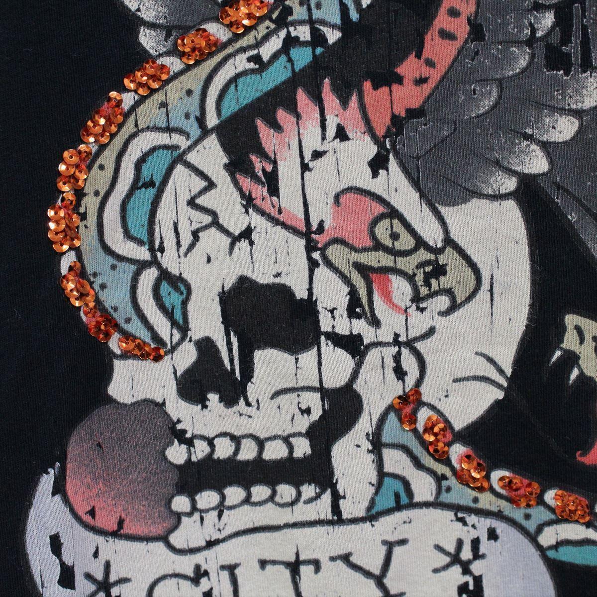 エドハーディー ED HARDY メンズ半袖Tシャツ ブラック Mサイズ NO18 新品 NEW YORK CITY_画像3