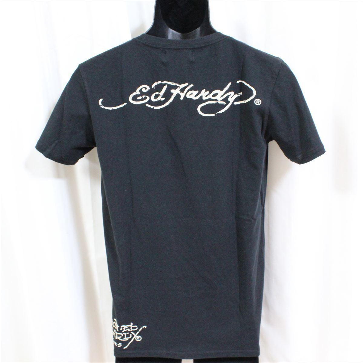 エドハーディー ED HARDY メンズ半袖Tシャツ ブラック Mサイズ NO18 新品 NEW YORK CITY_画像4