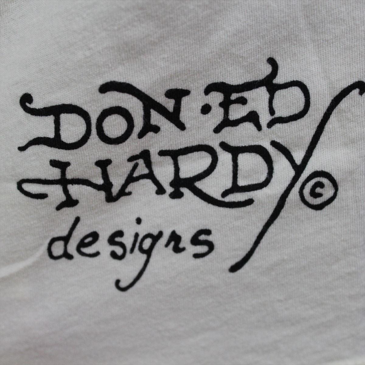エドハーディー ED HARDY メンズ半袖Tシャツ サンドクリーム Sサイズ NO25 新品_画像5