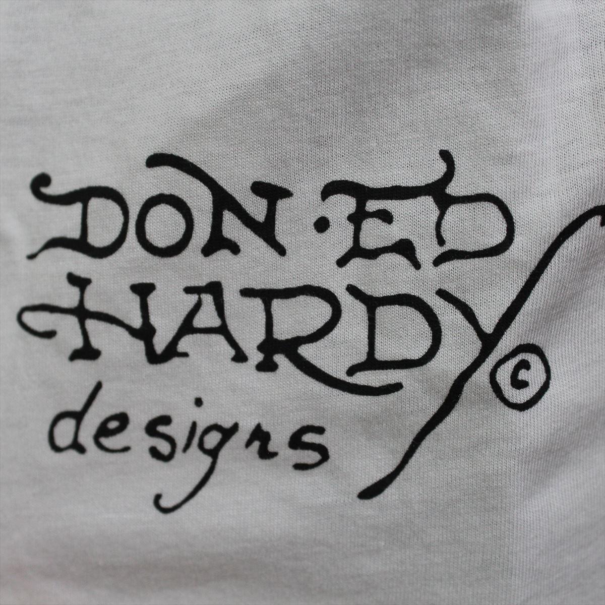 エドハーディー ED HARDY メンズ半袖Tシャツ ホワイト Lサイズ M02TCHB131 新品 白_画像4