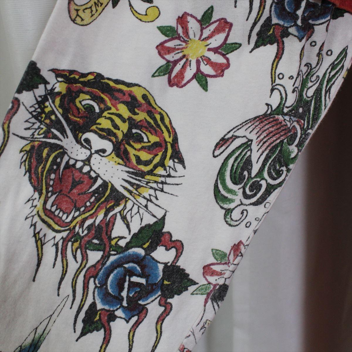 エドハーディー ED HARDY メンズダブルスリーブTシャツ レッド Lサイズ M03VDS057 新品 長袖 赤_画像3