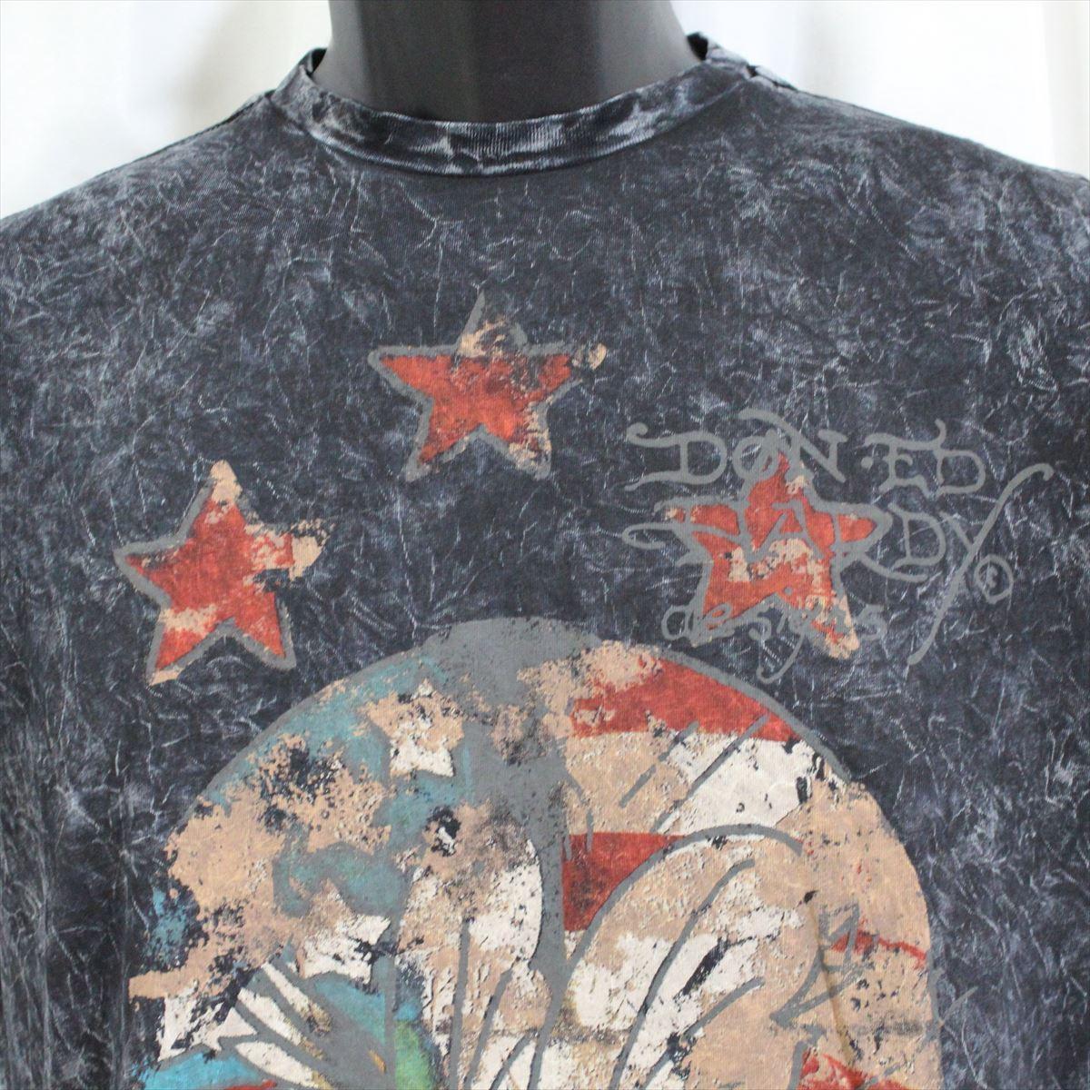 エドハーディー ED HARDY メンズ半袖Tシャツ ブラック Sサイズ 新品 アメリカ製 M02VTSB437_画像2
