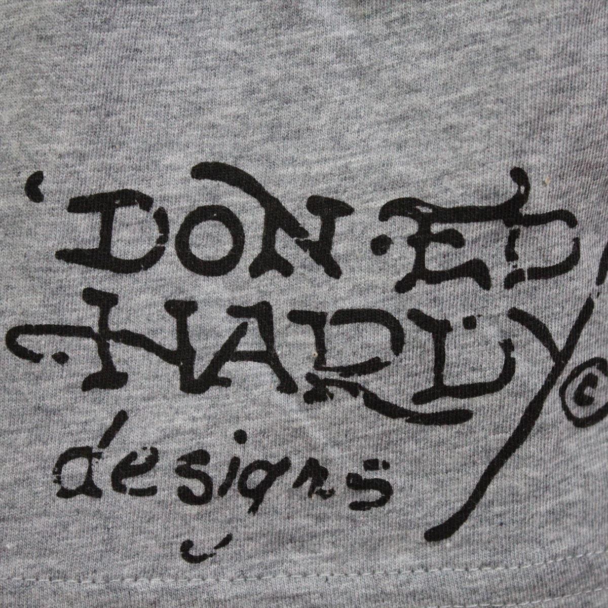 エドハーディー ED HARDY メンズ半袖Tシャツ グレー Lサイズ NO35 新品 スパンコール_画像5