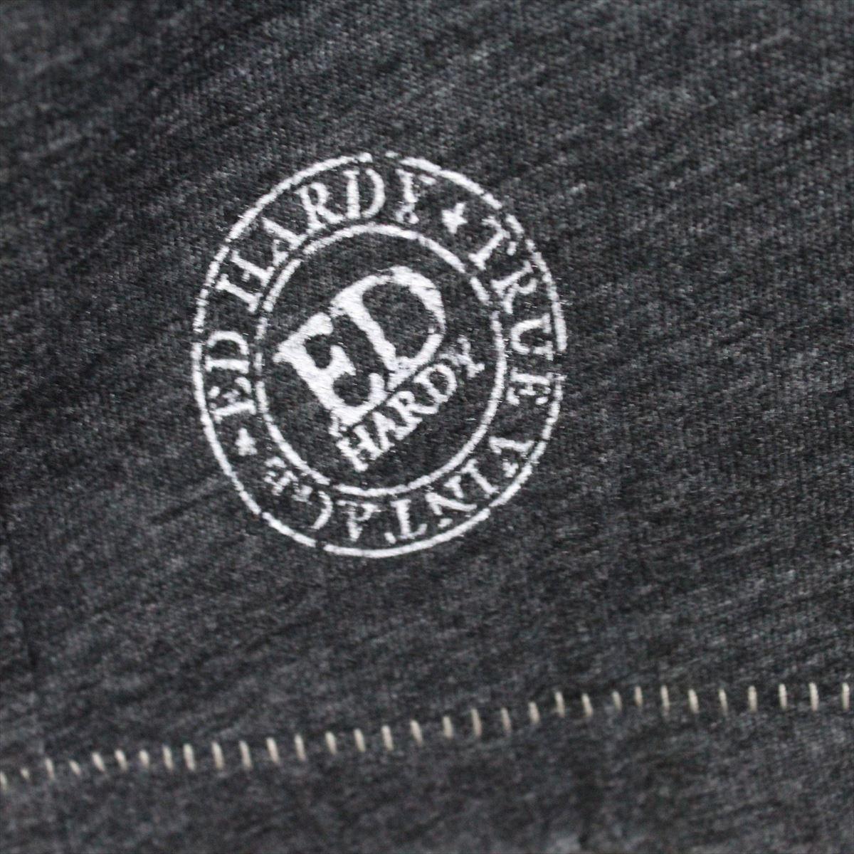 エドハーディー ED HARDY メンズ半袖Tシャツ チャコール Sサイズ NO36 新品_画像3