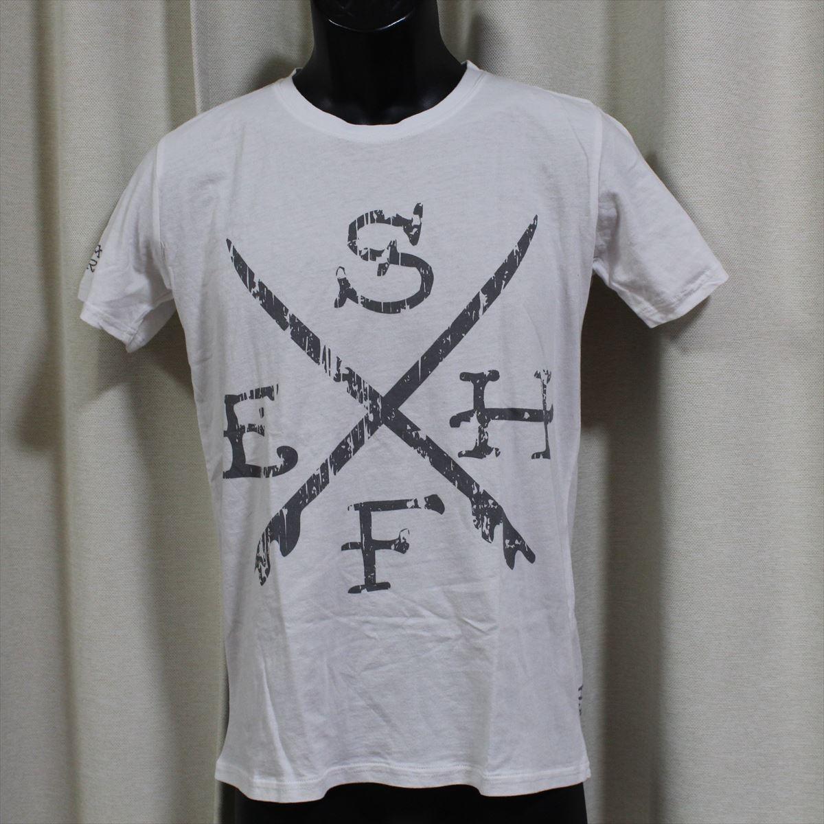 エドハーディー ED HARDY メンズ半袖Tシャツ ホワイト Sサイズ M02SUR179 新品 白_画像1