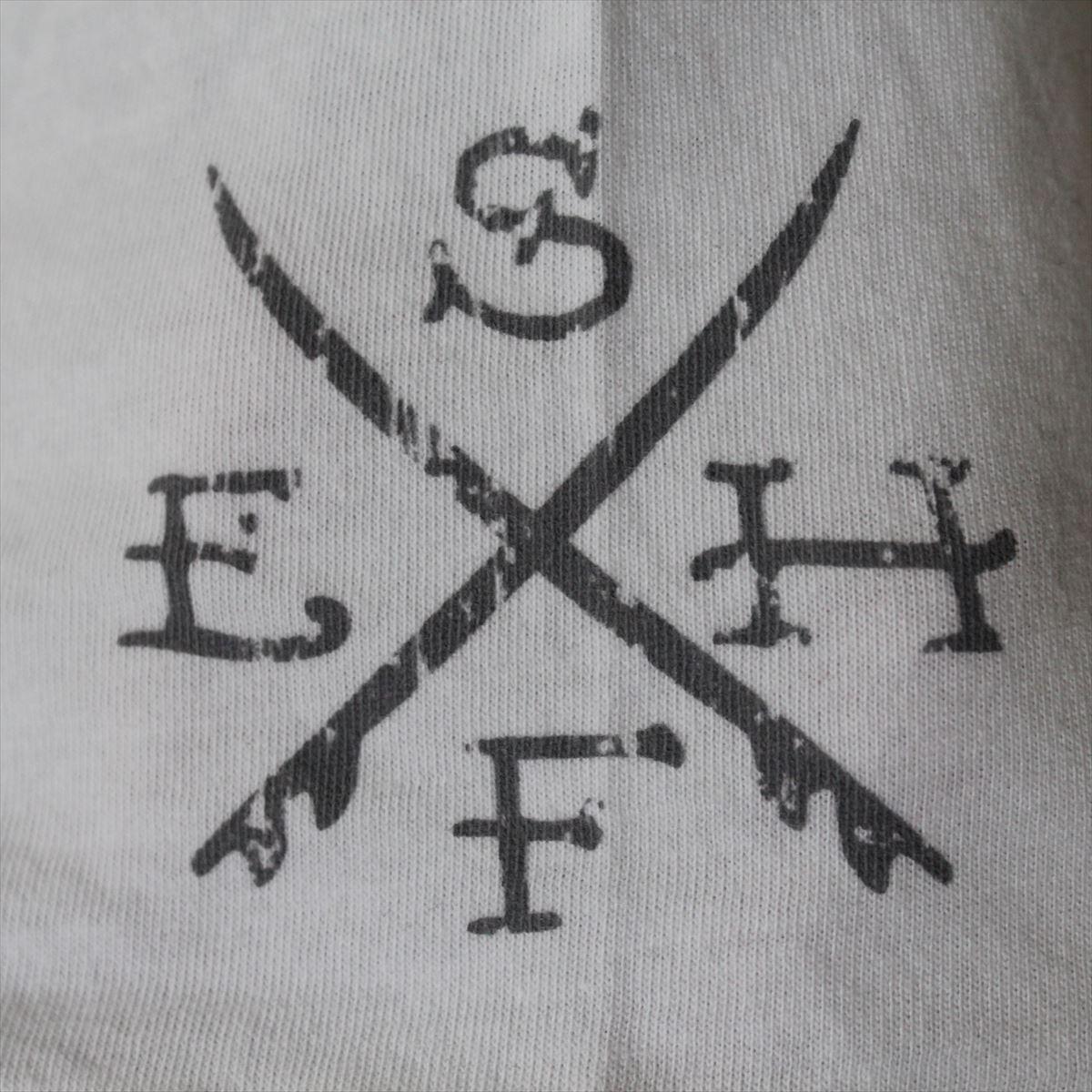 エドハーディー ED HARDY メンズ半袖Tシャツ ホワイト Sサイズ M02SUR179 新品 白_画像3