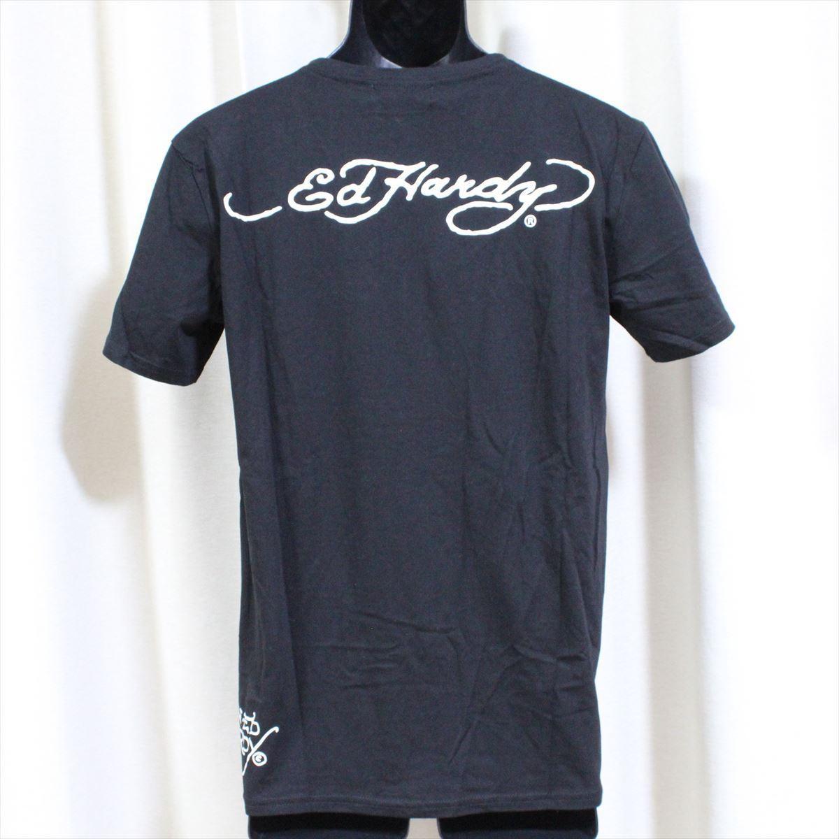 エドハーディー ED HARDY メンズ半袖Tシャツ ブラック Sサイズ M02CMVUS052 新品 U.S.A_画像3