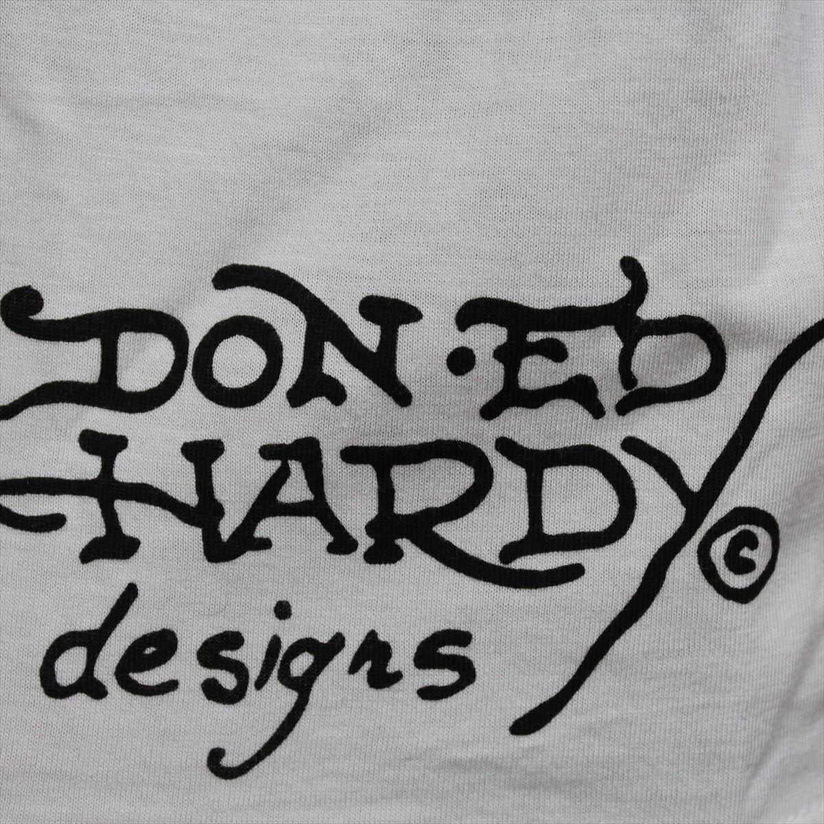 エドハーディー ED HARDY メンズ半袖Tシャツ ホワイト Lサイズ M02CMV552 新品 Vネック_画像4