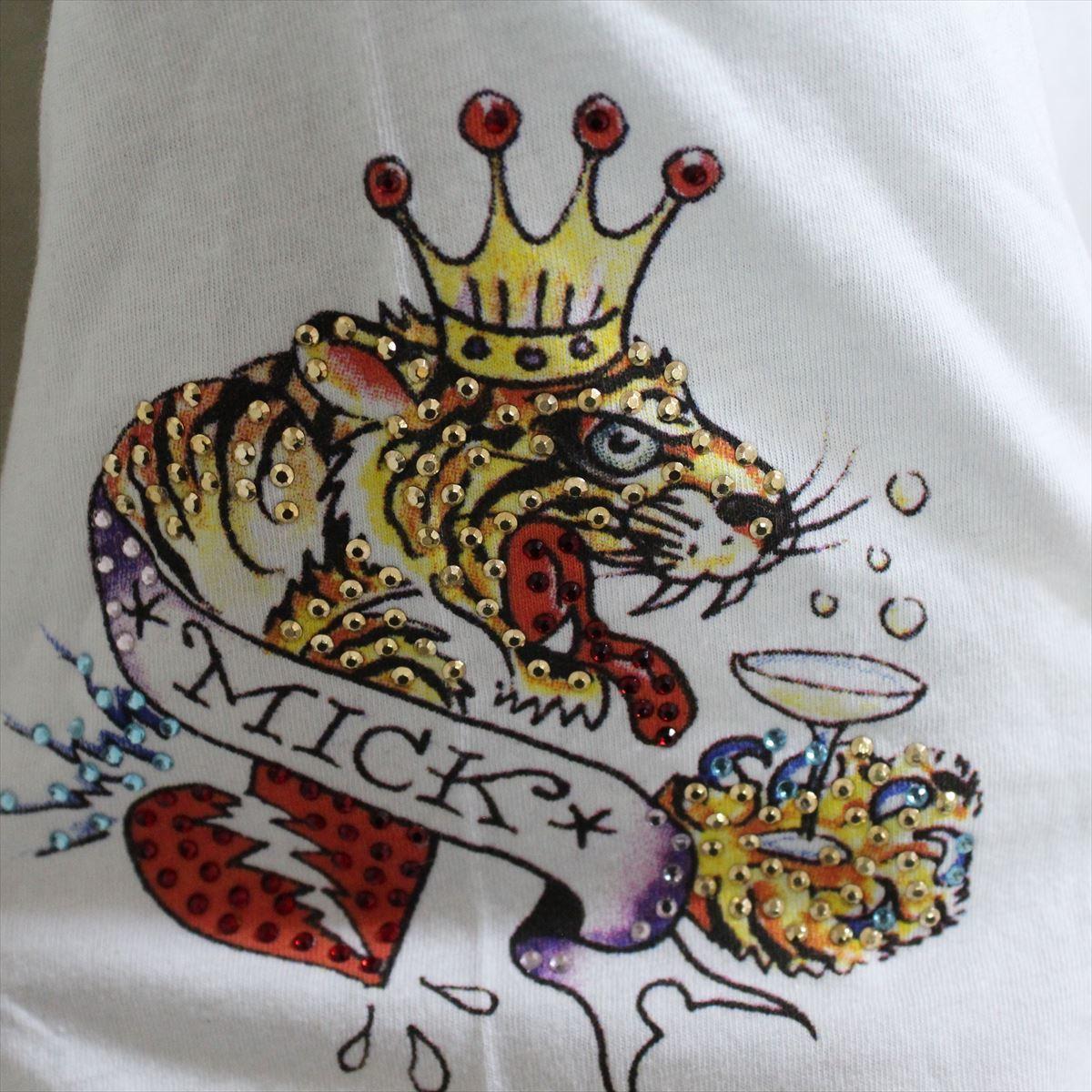 エドハーディー ED HARDY メンズ半袖Tシャツ ホワイト Mサイズ M02RST940 新品 白_画像4