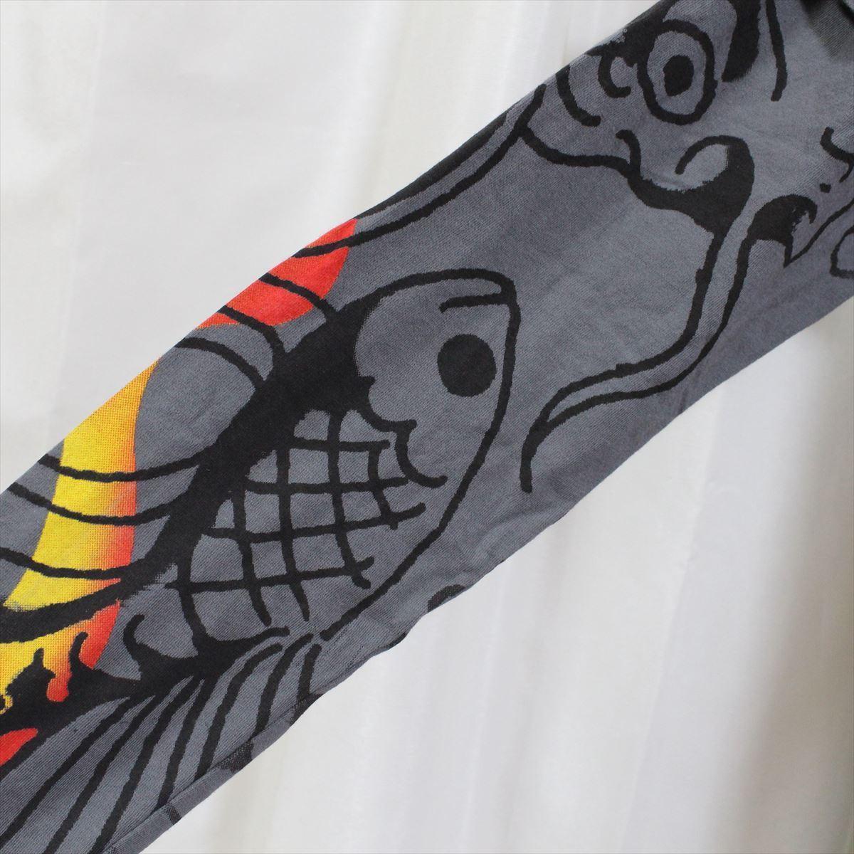 エドハーディー ED HARDY メンズダブルスリーブTシャツ チャコール Sサイズ NO48 新品 長袖_画像3
