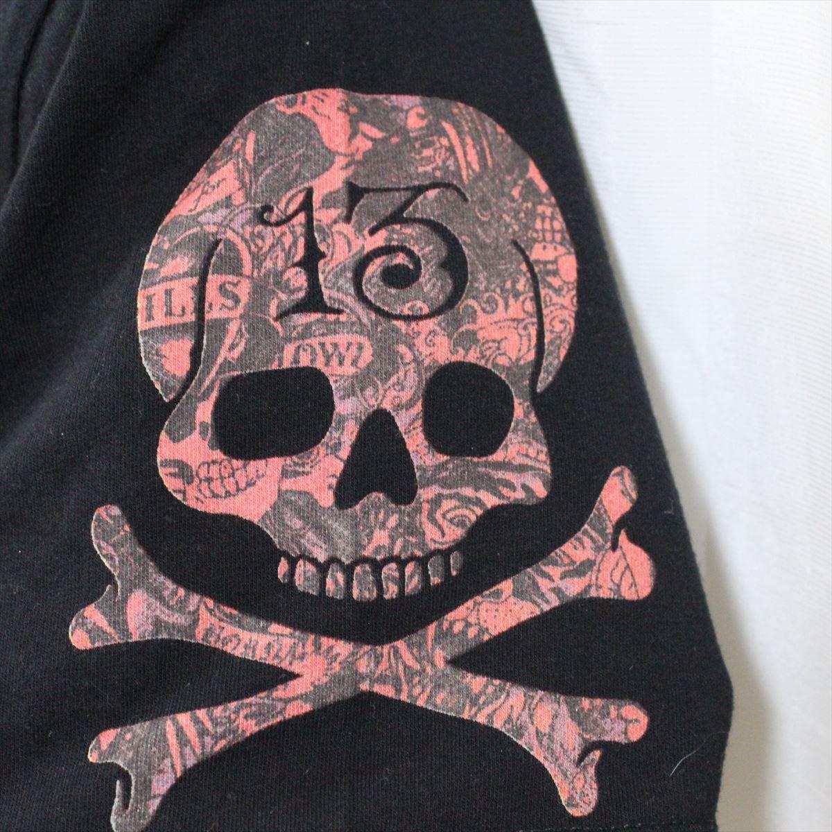 エドハーディー ED HARDY メンズ半袖Tシャツ ブラック Mサイズ 新品 黒 Vネック M02BMV554_画像2