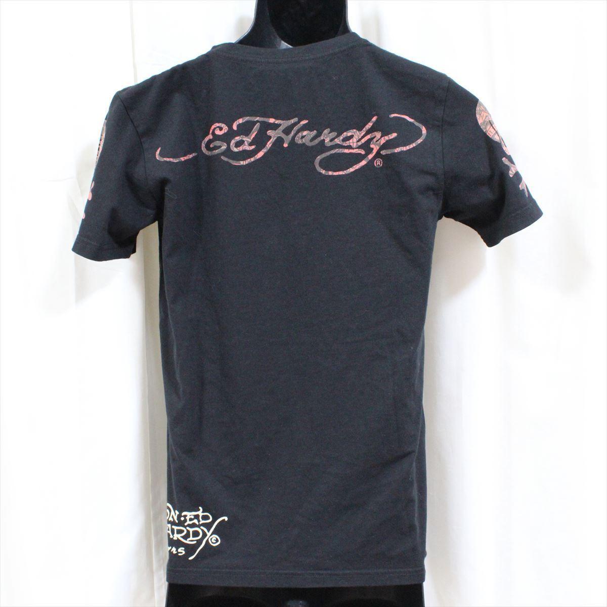 エドハーディー ED HARDY メンズ半袖Tシャツ ブラック Sサイズ 新品 Vネック 黒_画像4