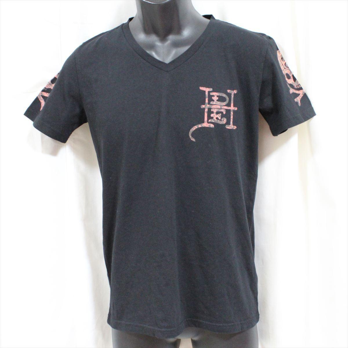 エドハーディー ED HARDY メンズ半袖Tシャツ ブラック Sサイズ 新品 Vネック 黒_画像1