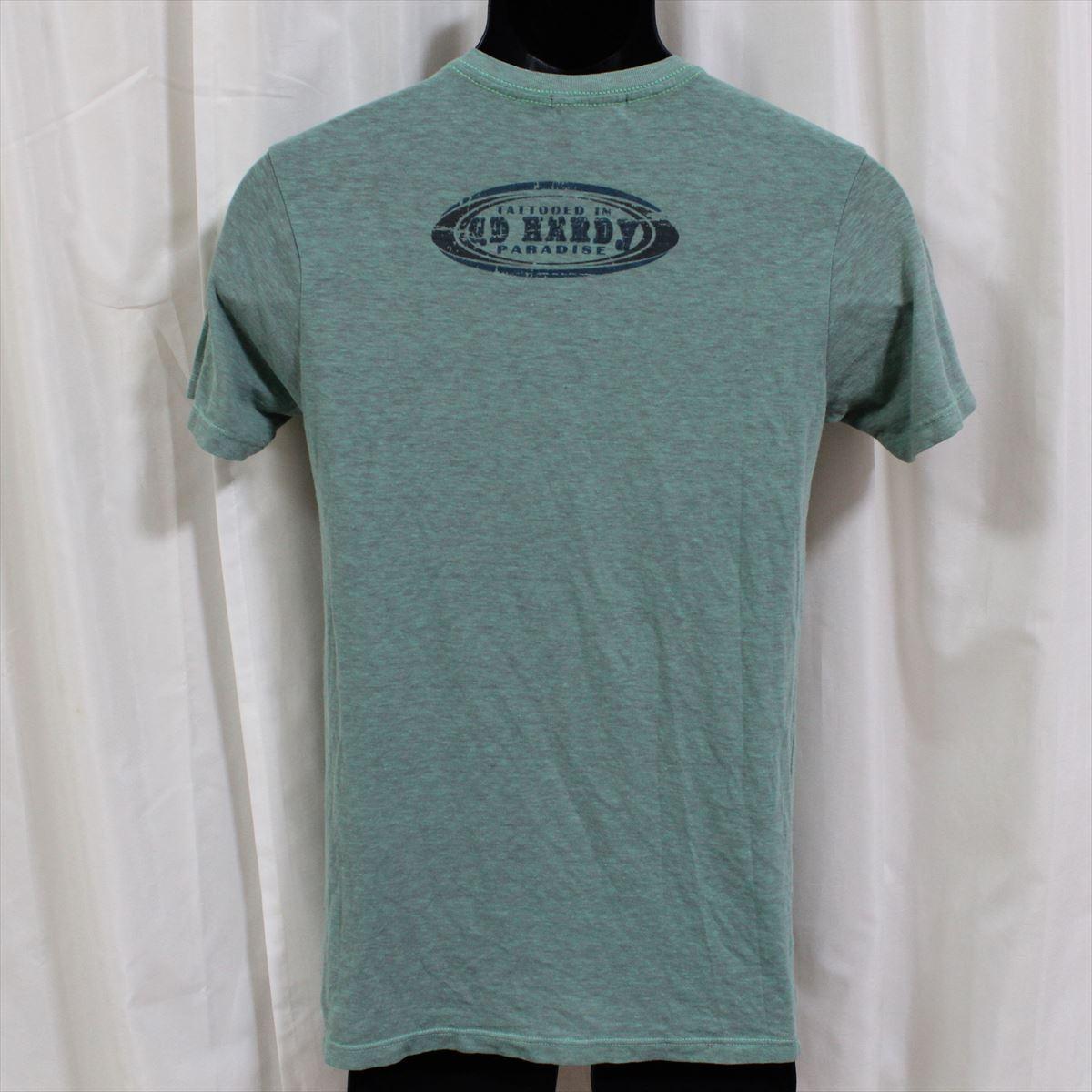 エドハーディー ED HARDY メンズ半袖Tシャツ グリーン Sサイズ 新品_画像3