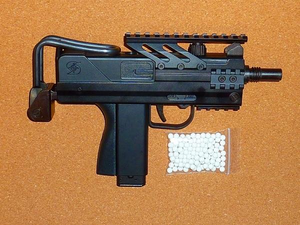 新品同様 マルゼン MARUZEN M11 CQB INGRAM 純正スコープマウントユニット付き ガスブローバック ガスガン サブマシンガン R67987126