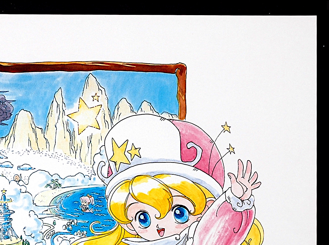 [New][Delivery Free]1991 PANAM Nihon Crown Star Child Poerie For Sales Promotion B2 Poster 円英智 星の子ポーリー [tag2222]_画像3