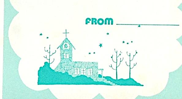 [Vintage][New Item][Delivery Free]1980s Robbon Sora Oda/Hideko Tachikake Christmas Card 太刀掛秀子/小田空クリスマスカード[tag5505]_画像4