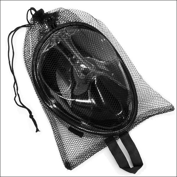 シュノーケル ブラック(S-M) フルフェイス型 ダイビング 防曇 カメラ取付可/22_画像9