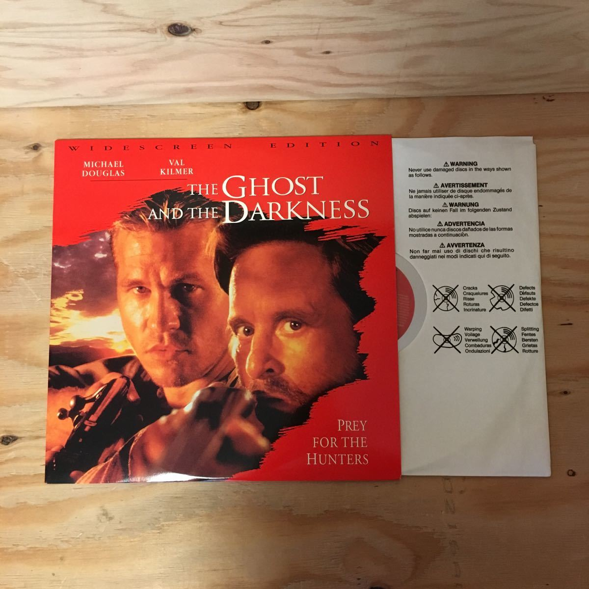 ◎Y3FIID-200303 レア[THE GHOST AND THE DARKNESS 輸入盤]LD レーザーディスク MICHAEL DOUGLAS STEPHEN HOPKINS_画像4