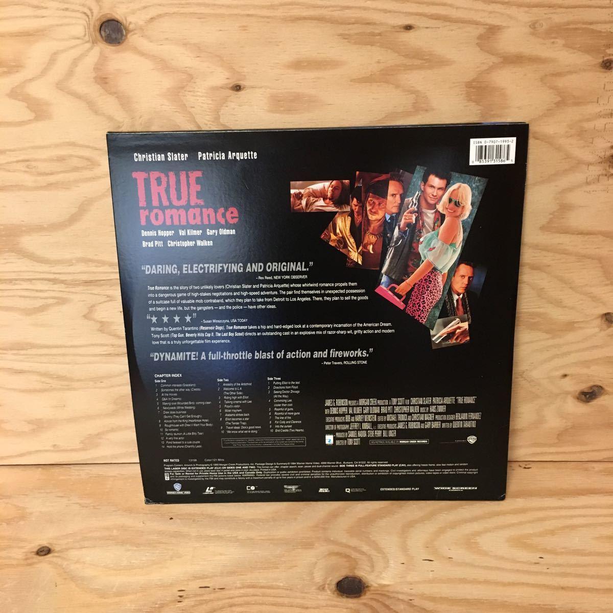 ◎Y3FIID-200305 レア[TRUE ROMANCE 輸入盤]LD レーザーディスク CHRISTIAN SLATER TONY SCOTT_画像2