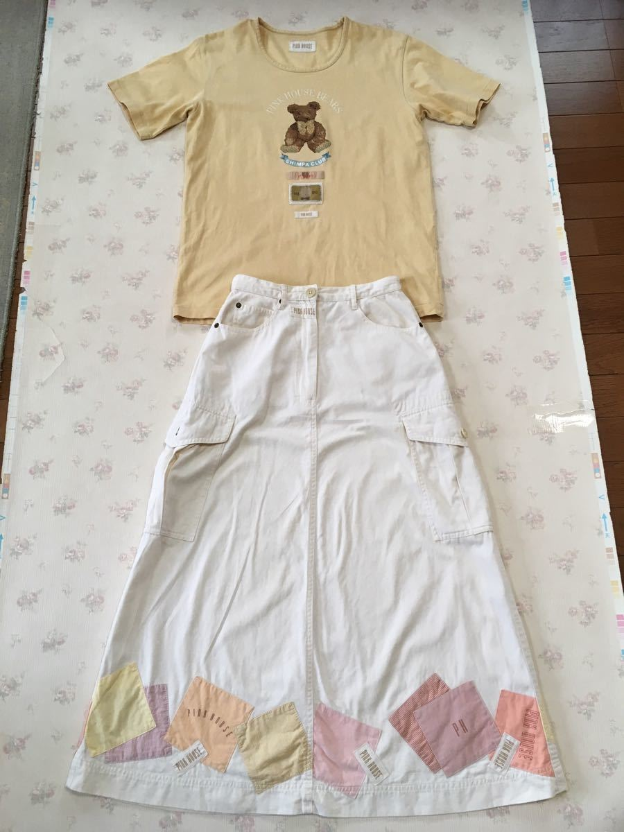 ピンクハウス クマ柄・クリーム色のTシャツのみ