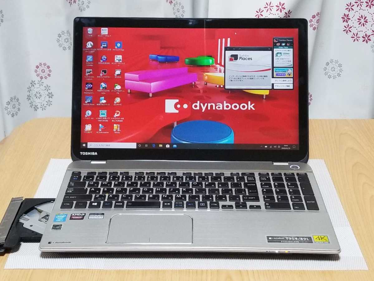 新品SSD960GB 4Kウルトラタッチディスプレイ i7-4700HQ M/16GB Blu-ray GPU/Radeon搭載 【東芝dynabook T954/89L】Win10/Office2019