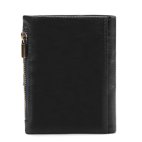MY BAG 二つ折り財布 短財布 高級レザー 牛革本革 メンズ 小銭入れあり ウォレット コインケース ファスナー カード入れ 2059 ブラック_画像2
