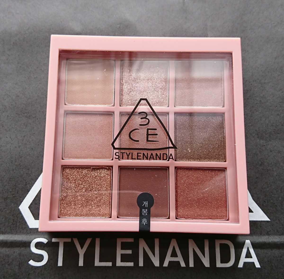 ◆ 3ce STYLENANDA ◆ アイ カラー パレット アイシャドウ #OVERTAKE オーバーテイク 韓国コスメ 人気カラー 新品未使用