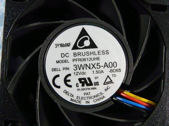 1HDL // Dell PowerEdge R720 の ファン 03RKJC PFR0612UHE 3WNX5-A00 12V 1.50A // 在庫9[12]_画像2