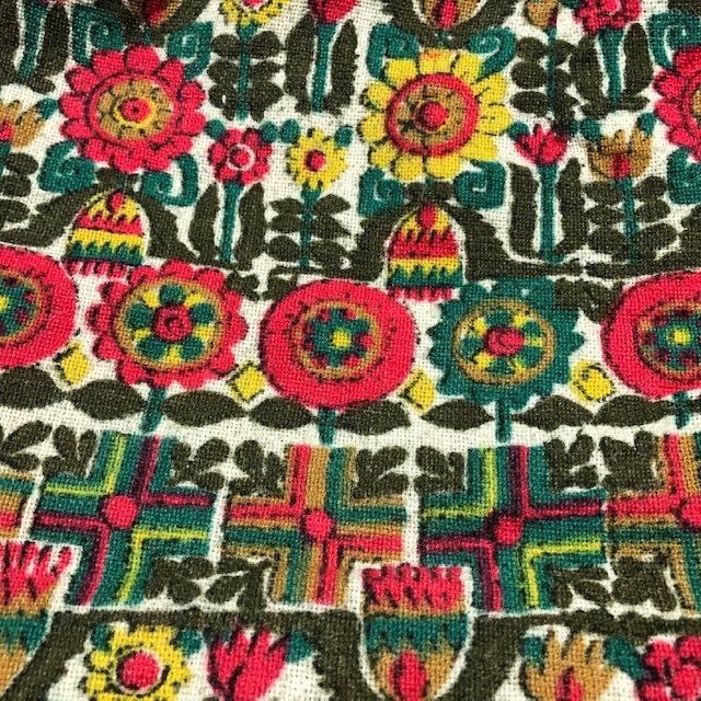 国産レトロ古着 70's 総柄ラップスカート 花柄 ヴィンテージ 昭和レトロ ⑳ レトロモダン 70年代 80年代