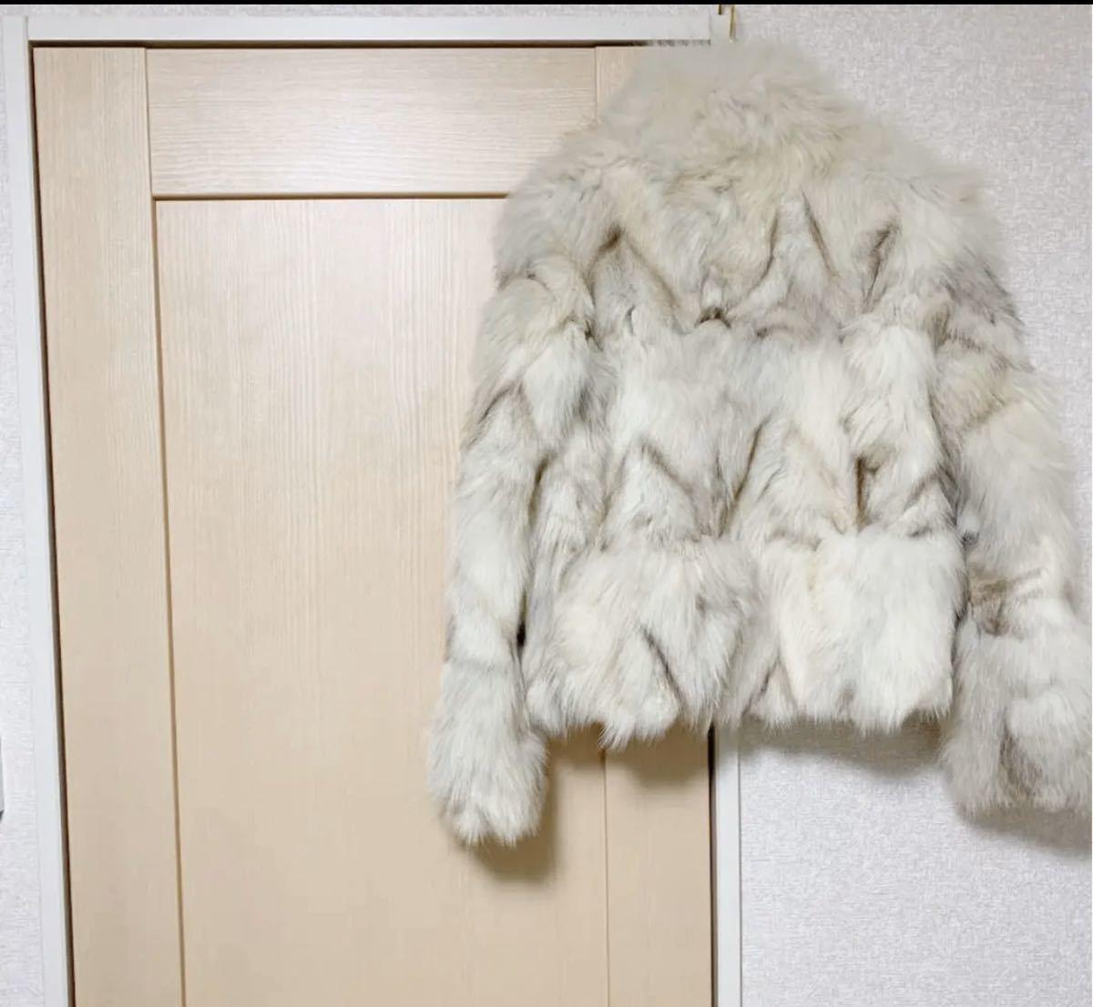 ESPRITMUR エスプリミュール ブルーフォックスファーコート ジャケット 毛皮 毛皮コート フォックスファー ファーコート ハーフコート