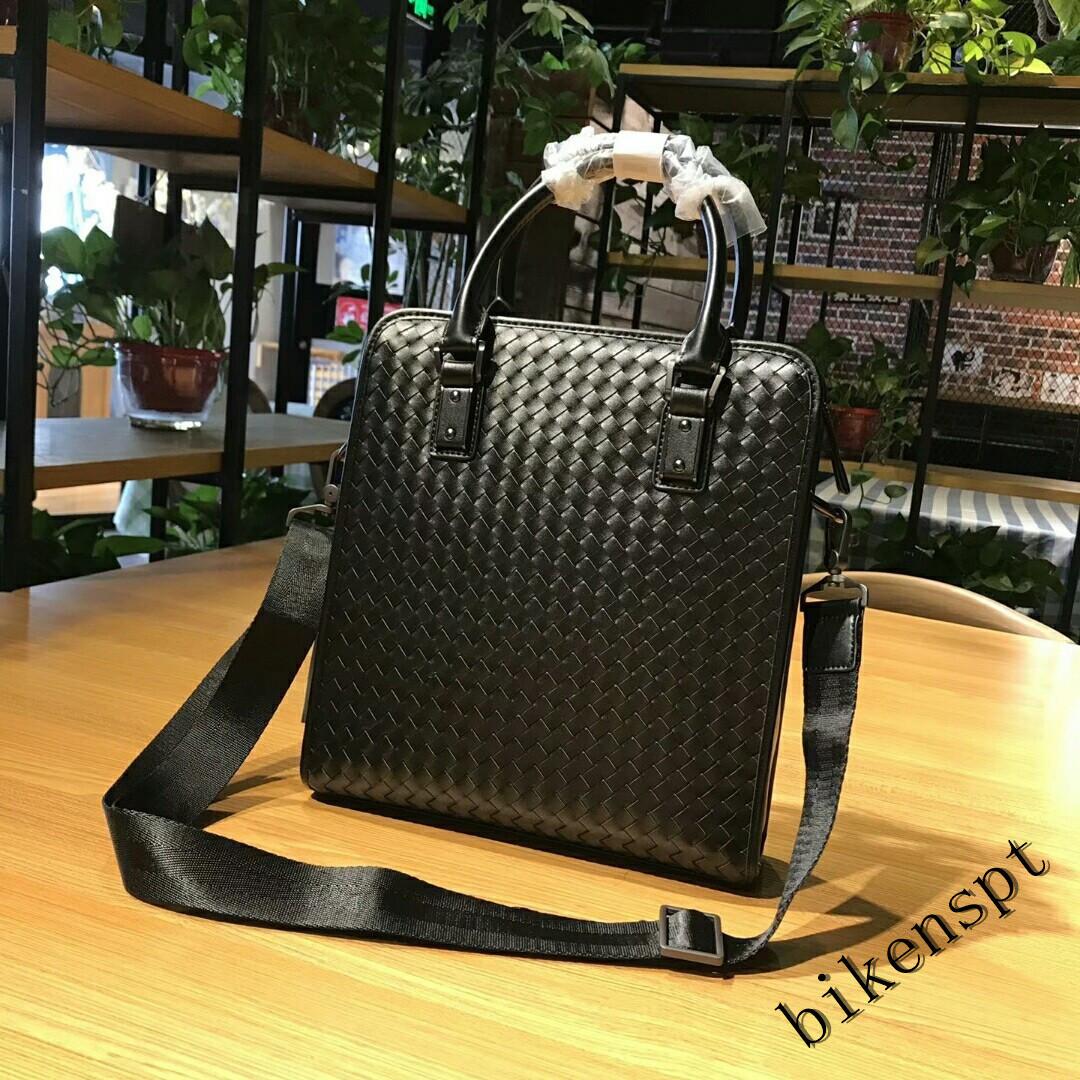 高級感 メンズバッグ ショルダーバッグ 本革 ハンドバッグ ビジネスバッグ トートバッグ 牛革 レザー 編込み 通勤 BB401_画像3