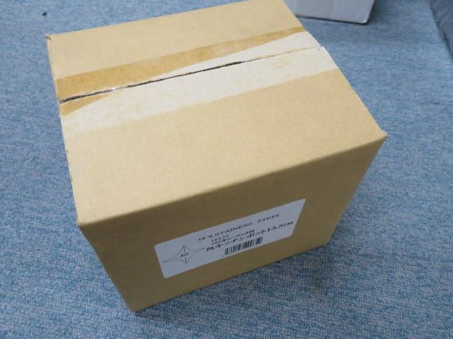14-38710 未使用 赤川器物 18-8 SUS304 パッキン・フック付 角キッチンポット 13.5cm 調味料入れ 保存容器 業務用 厨房用 ステンレス_画像2