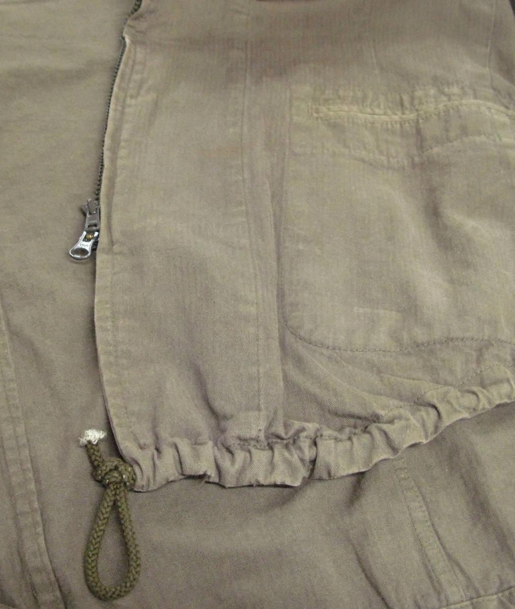 ヨウジヤマモト:綿麻混紡素材 ジップアップ フード パーカ ( ジャケット ダブルジップ ブルゾン Yohji Yamamoto pour HOMME jacket_画像5