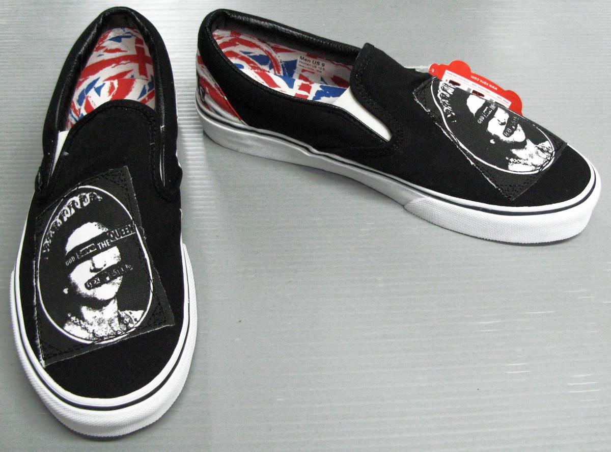 バンズ VANS SEX PISTOLS:コラボスニーカー新品 US8.5 26.5cm( レア 限定 classic slip-on VANS SEX PISTOLS sneakers シューズ 靴_画像1