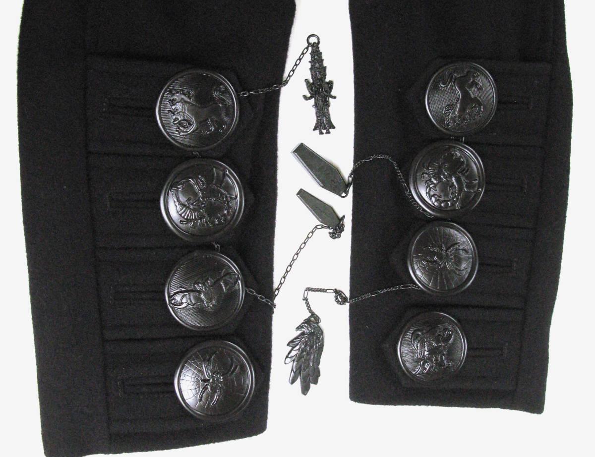 ヨウジヤマモト プールオム : 2019AW デカ釦 コート ( 真鍮ボタン 今期 デカボタン Yohji Yamamoto pour HOMME 2019-20AW coat_画像6