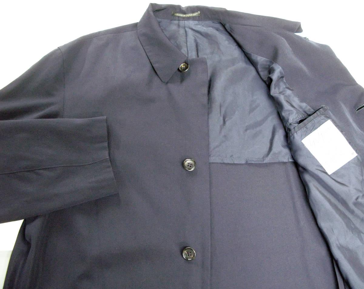 ヨウジヤマモト プールオム:旧タグ ビッグシルエット ウールギャバ ロング ジャケット 濃紺Yohji Yamamoto pour HOMME vintage big jacket_画像4