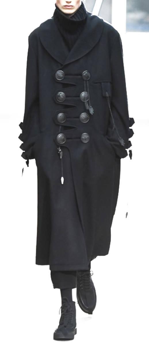 ヨウジヤマモト プールオム : 2019AW デカ釦 コート ( 真鍮ボタン 今期 デカボタン Yohji Yamamoto pour HOMME 2019-20AW coat_画像1