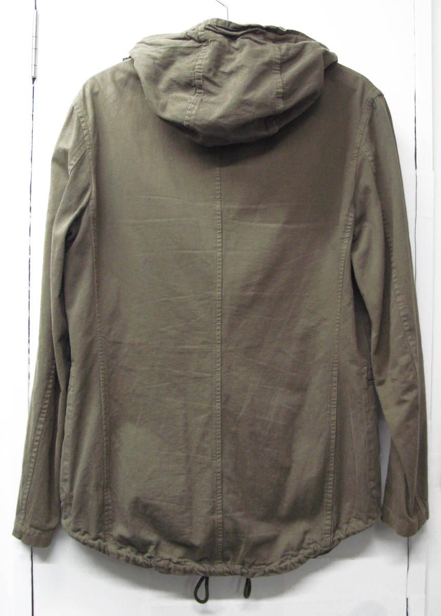 ヨウジヤマモト:綿麻混紡素材 ジップアップ フード パーカ ( ジャケット ダブルジップ ブルゾン Yohji Yamamoto pour HOMME jacket_画像3