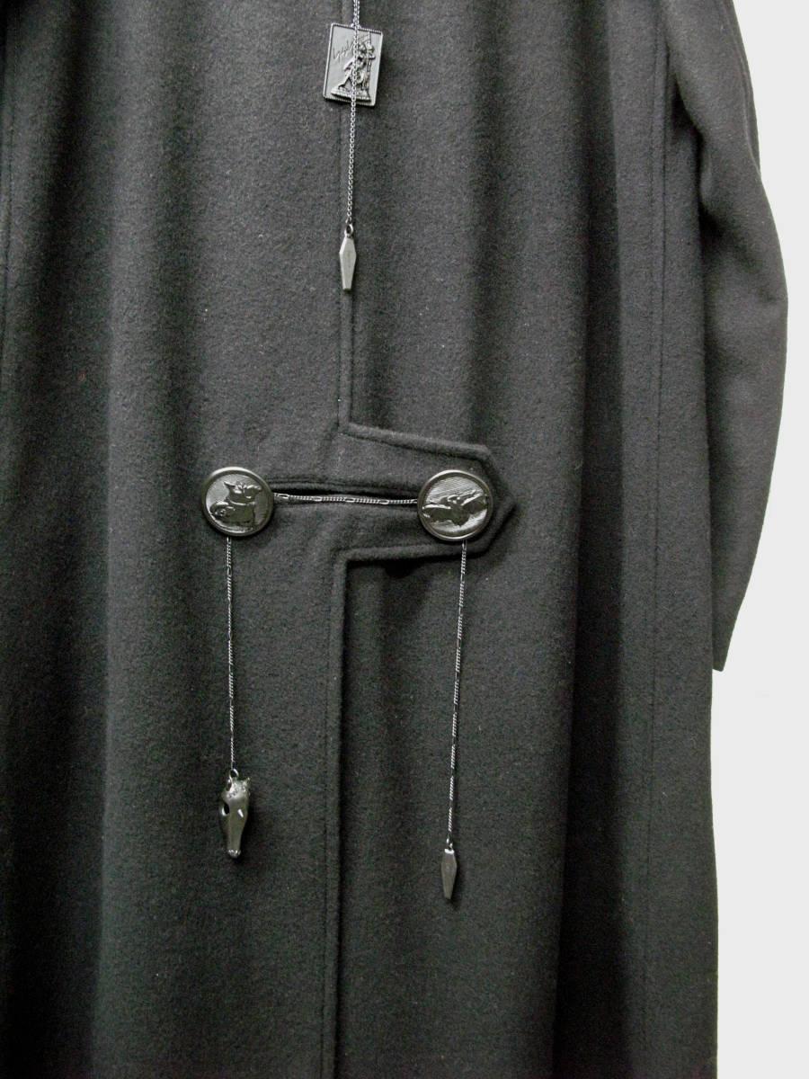 ヨウジヤマモト プールオム : 2019AW デカ釦 コート ( 真鍮ボタン 今期 デカボタン Yohji Yamamoto pour HOMME 2019-20AW coat_画像4