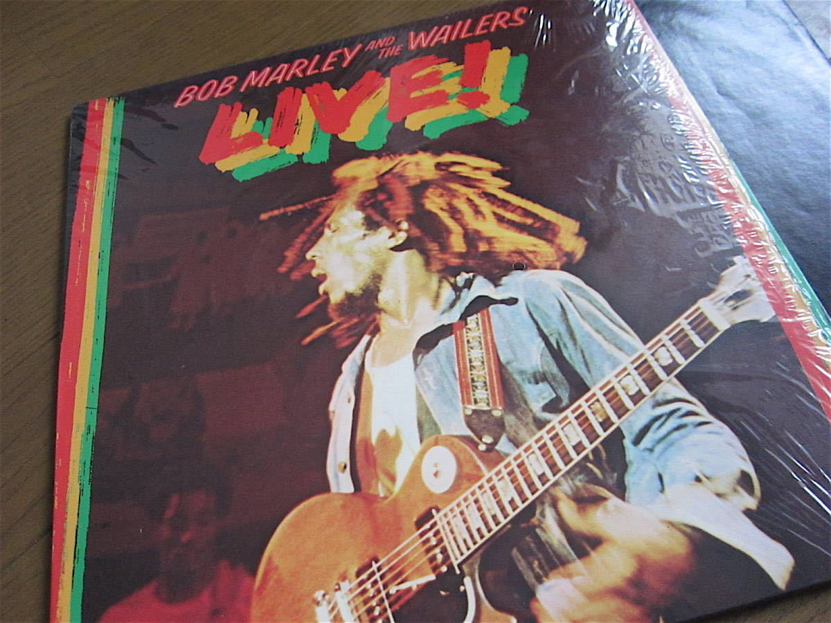 □BOB MARLEY AND THE WAILERS LIVE! 米盤オリジナルシュリンク美品! 両面STERLING刻印_画像2