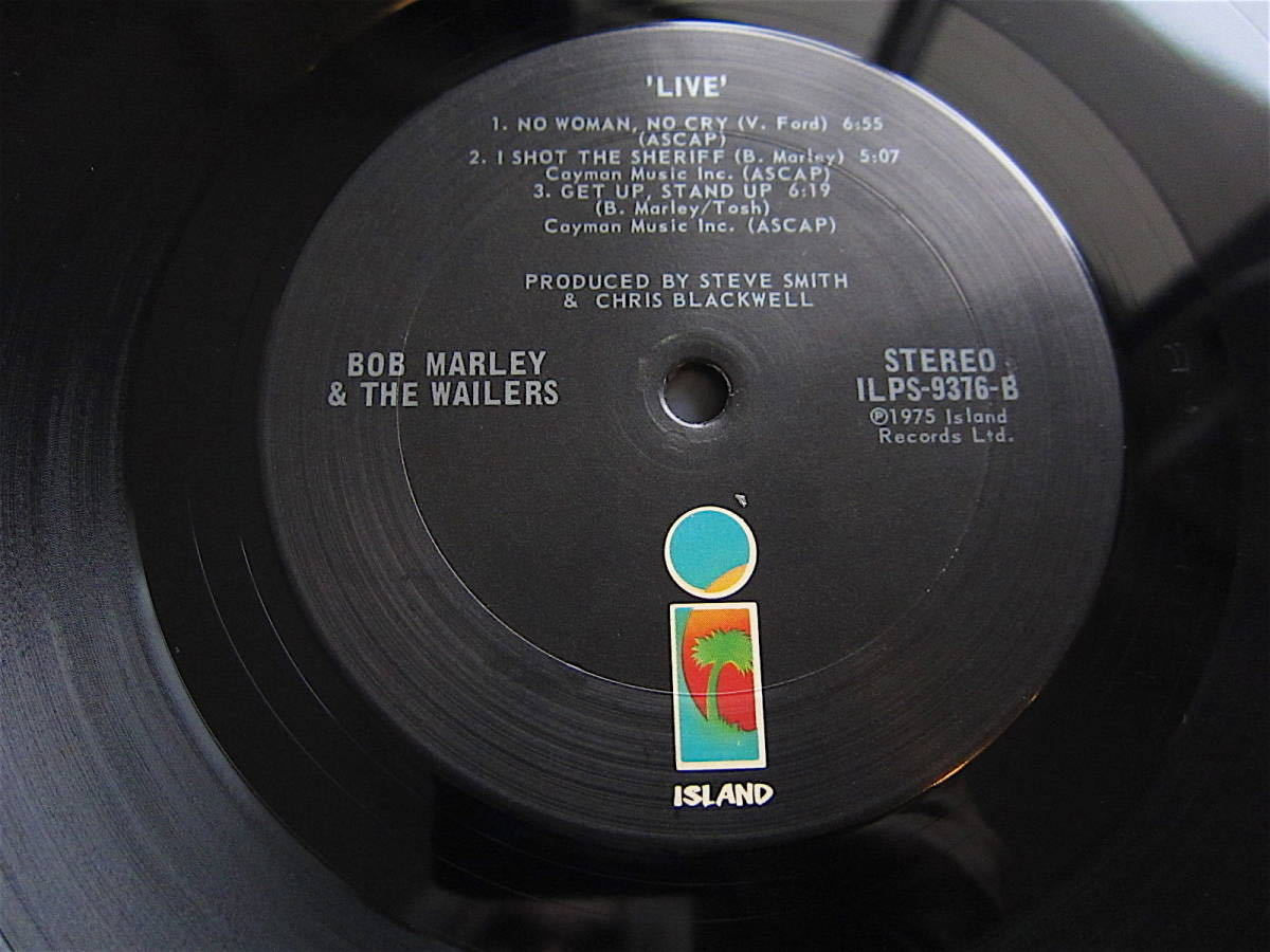 □BOB MARLEY AND THE WAILERS LIVE! 米盤オリジナルシュリンク美品! 両面STERLING刻印_画像7