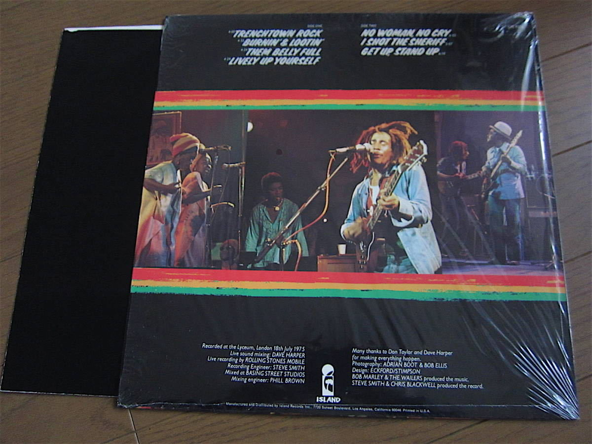 □BOB MARLEY AND THE WAILERS LIVE! 米盤オリジナルシュリンク美品! 両面STERLING刻印_画像3