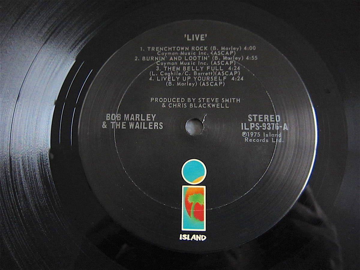 □BOB MARLEY AND THE WAILERS LIVE! 米盤オリジナルシュリンク美品! 両面STERLING刻印_画像4
